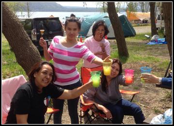 2014年 春の湖畔キャンプ